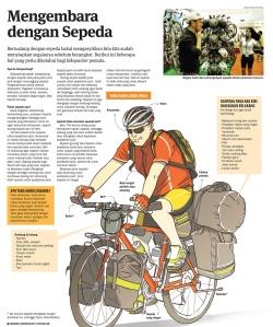Mengembara dengan sepeda