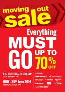 Moving Out Sale up to 70 Percent at Rodalink Singapore