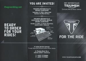 Triumph invitation