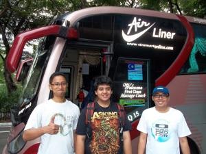 Berangkat dari Singapore menuju Kuala Lumpur Malaysia