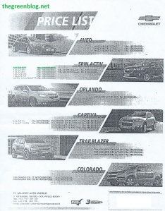 Chevrolet Batam  Oct 2014