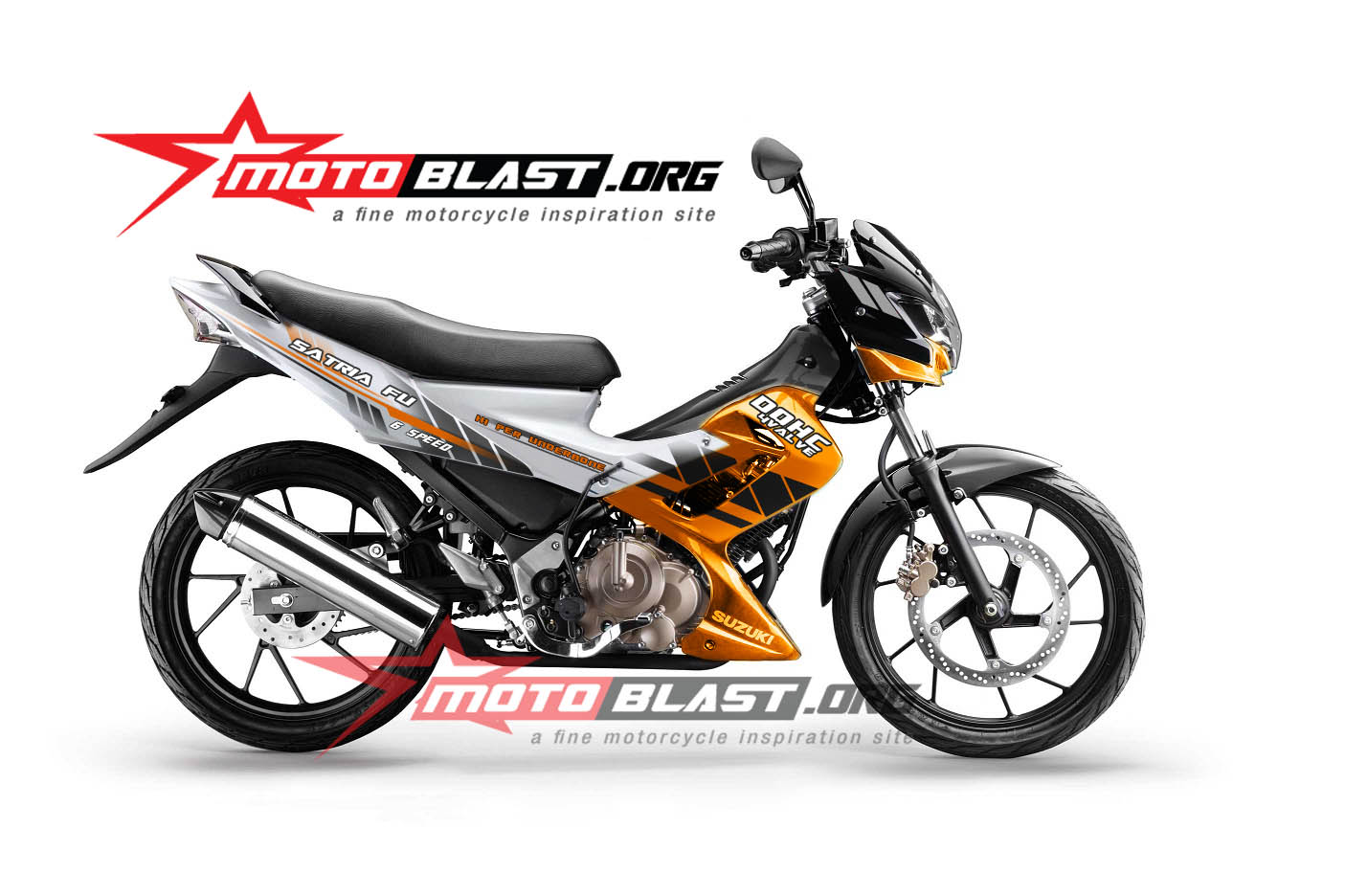 Top Gambar Modif Striping Satria Fu Modifikasi Motor