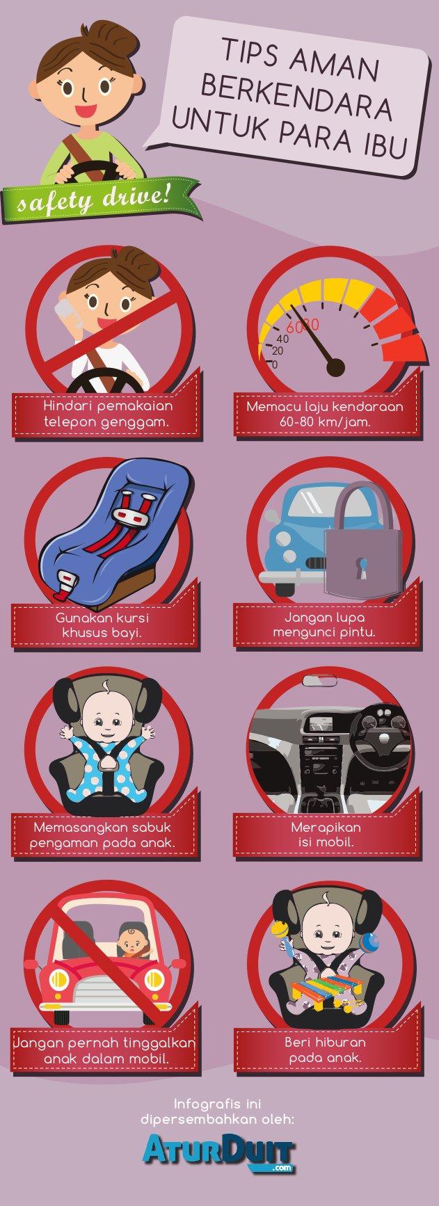 tips and trick, aman berkendara, bagi para ibu dan wanita